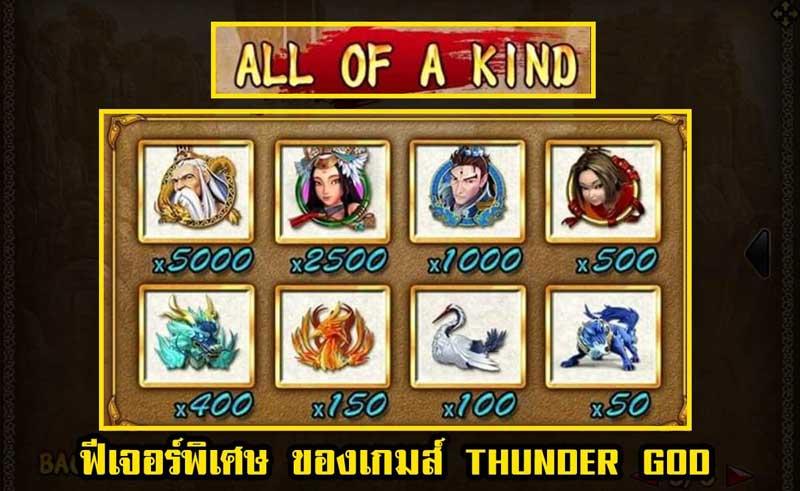 รูปภาพจ่ายเงินรางวัลเกม thunder god slot